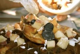 Farmstay breakfast waffles!